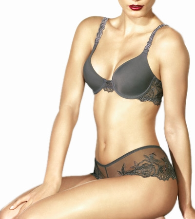 Wacoal Luxe A Rose Is A Rose Contour Underwire Bra  :  contour lingerie floral tshirt bra